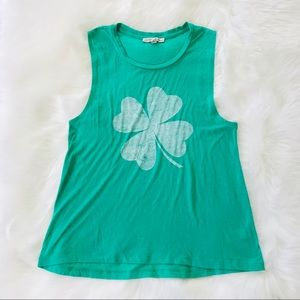 Express One Eleven Clover Muscle Tank